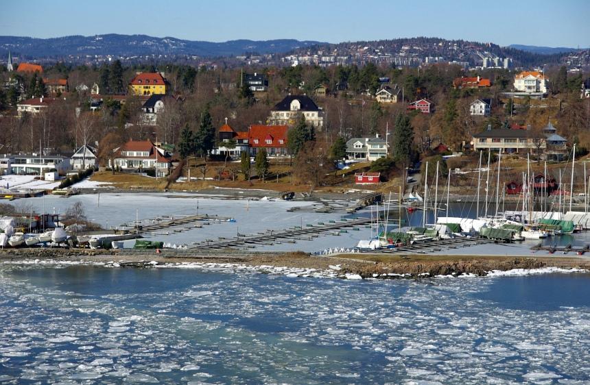 Langzaam dichter bij Oslo.