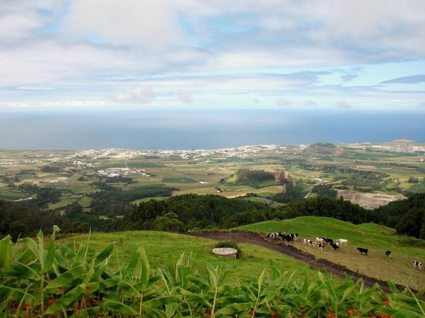 Uitzicht over Praia da Vitoria