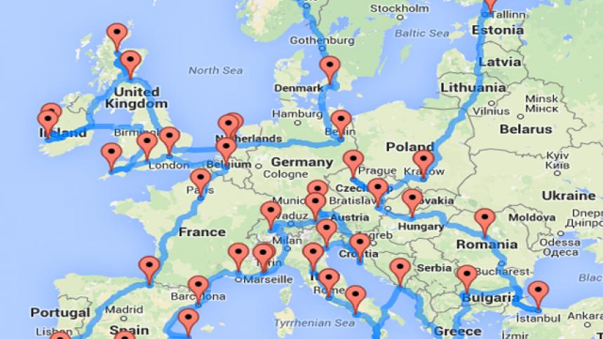 Dit is de ideale roadtrip door Europa volgens de Amerikaanse wetenschapper Randy Olson.