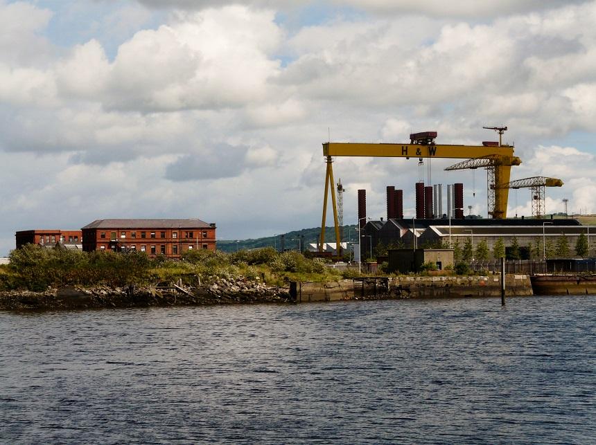 Titanic Docks in de haven van Belfast