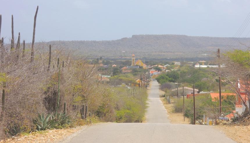 Op weg naar de tweede plaats op Bonaire: Rincon.