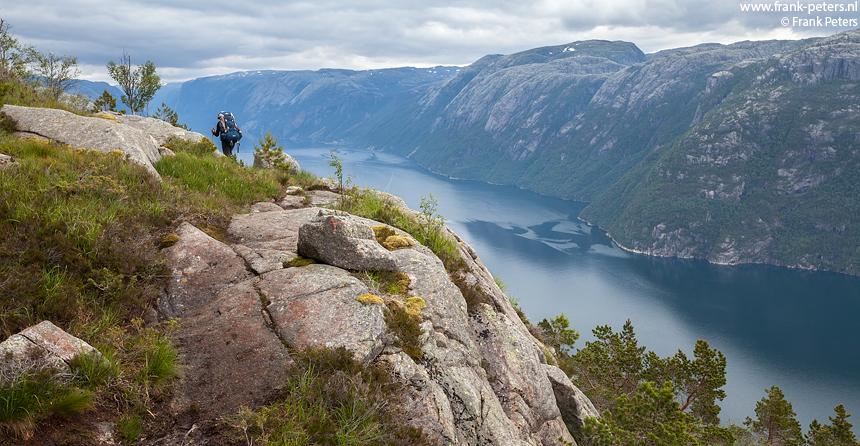 Uitzichten op het Lysefjord