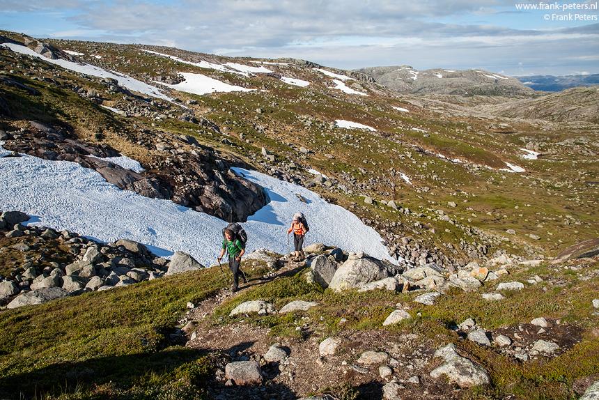 Het ruige landschap van het Lysefjord