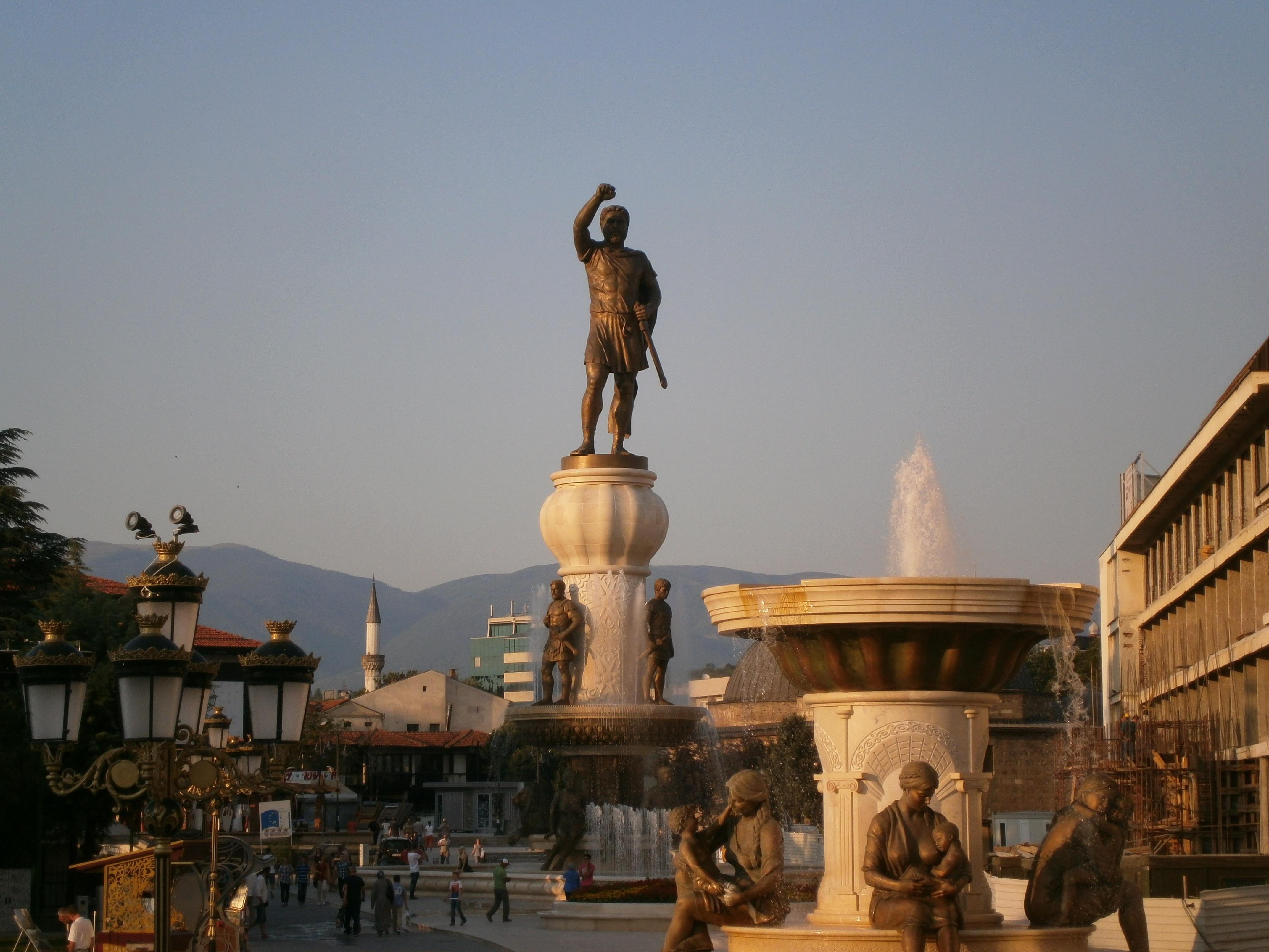 Skopje Macedonië Alexander de Grote