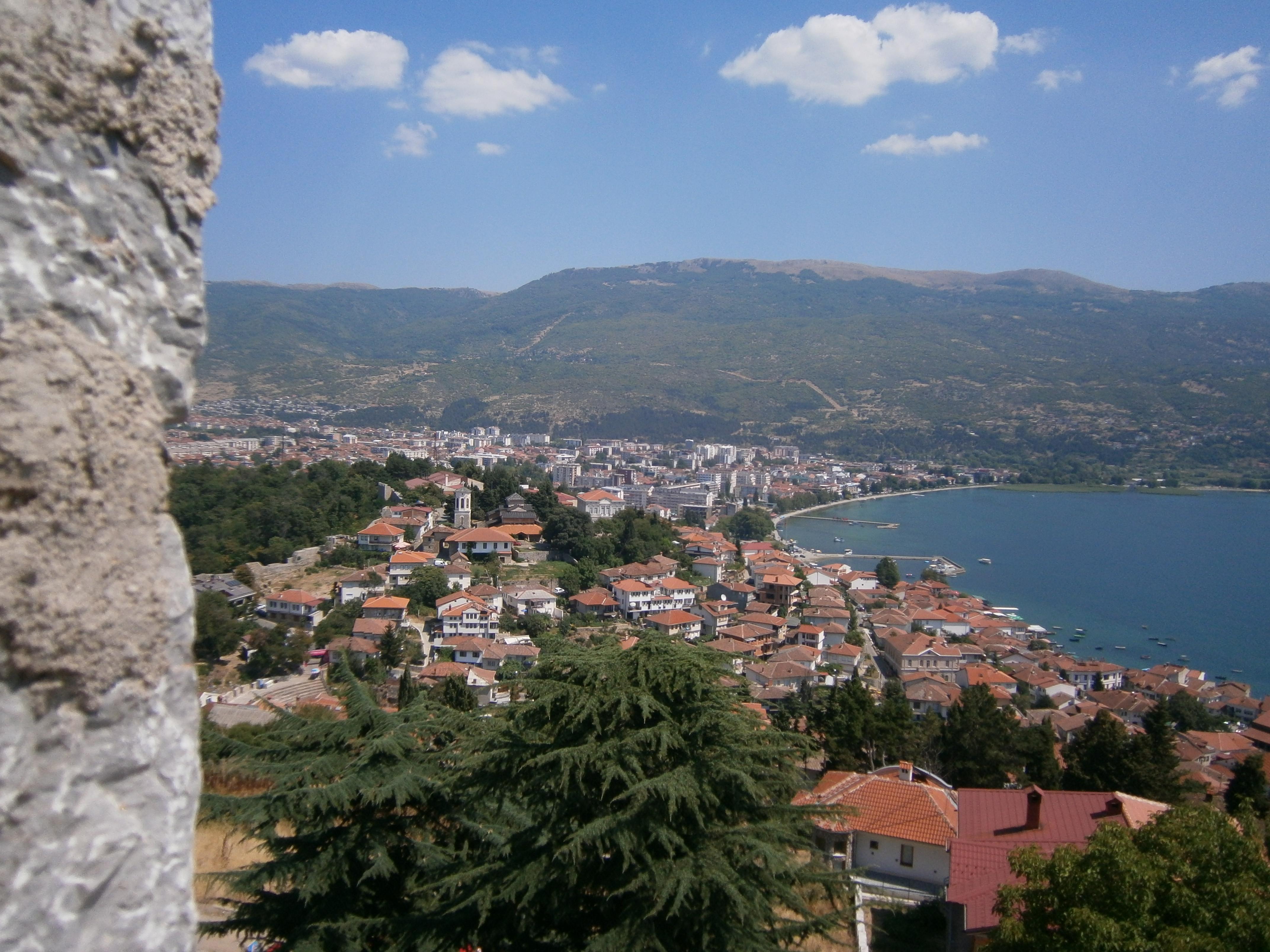 Macedonië Ohrid Meer Natuur