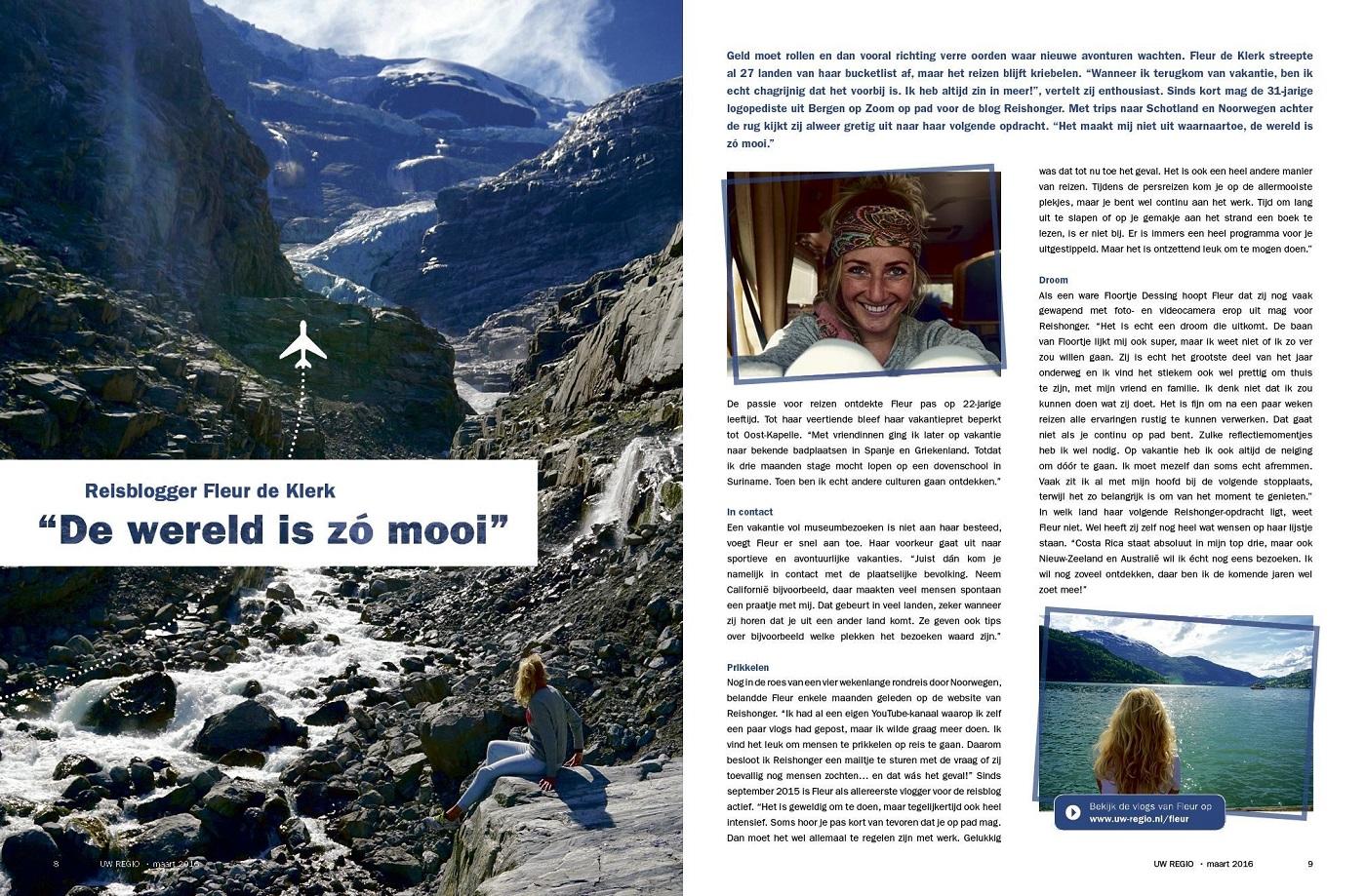Reishonger in Uw Regio Magazine
