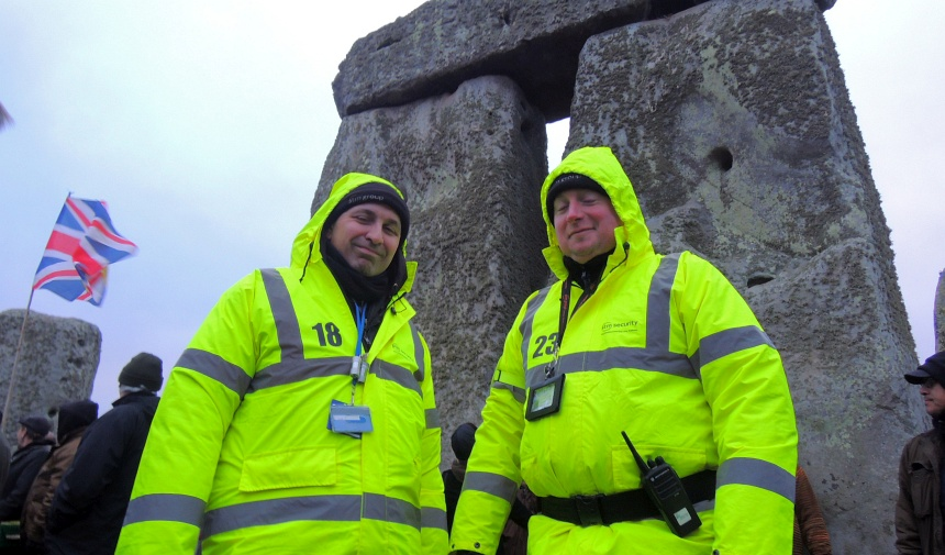 Normaal is Stonehenge niet zo dicht te benaderen. Om 8:30 wordt alles weer afgesloten.
