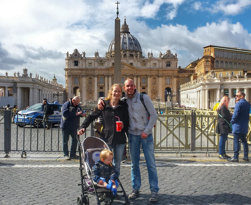 Even snel een foto schieten bij het Vaticaan
