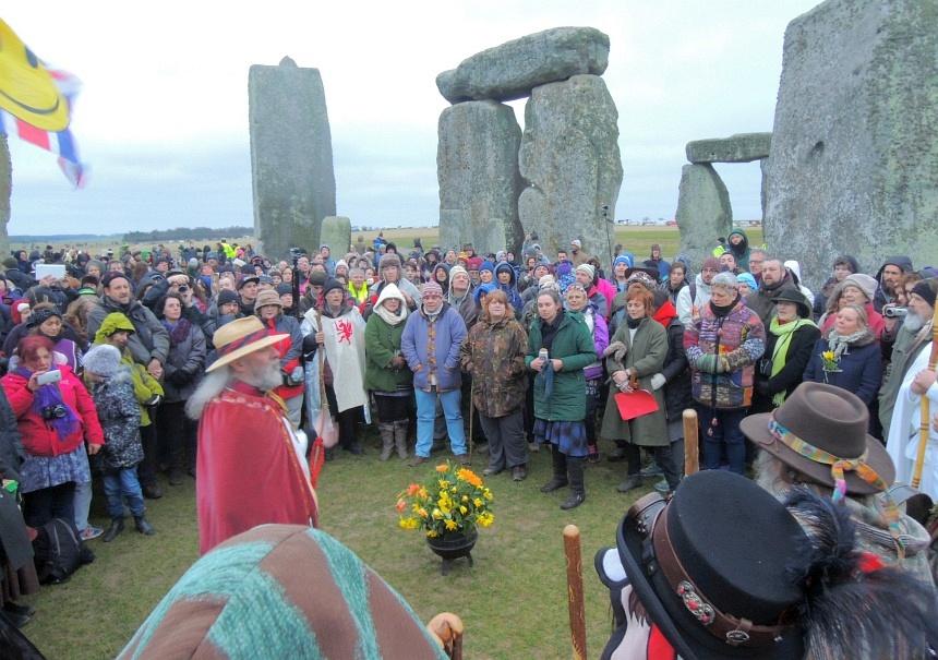 In Stonehenge werd 20 maart het begin van de lente gevierd.