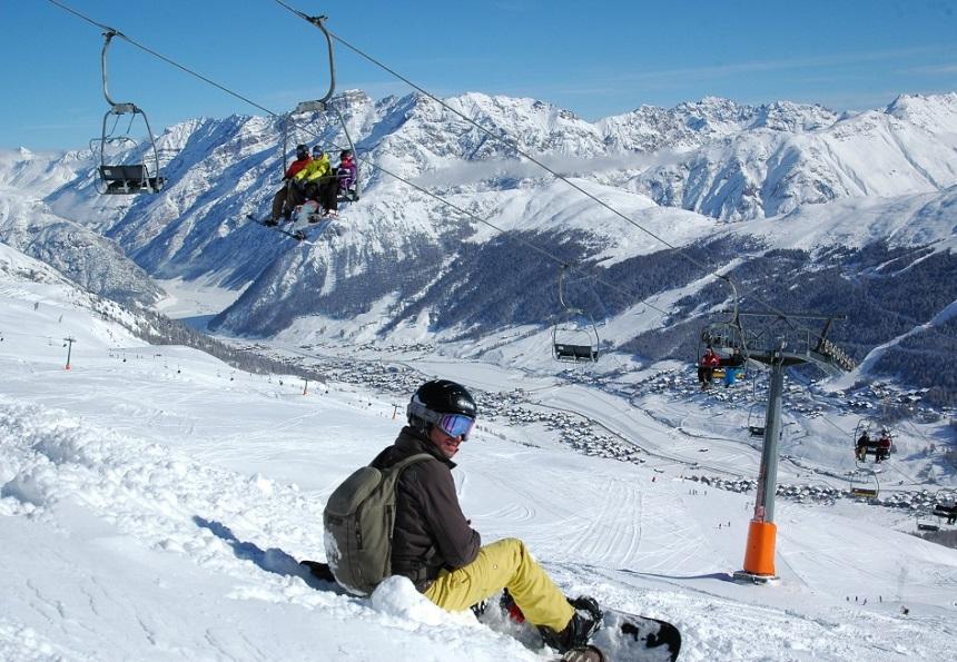 snowboarden livigno