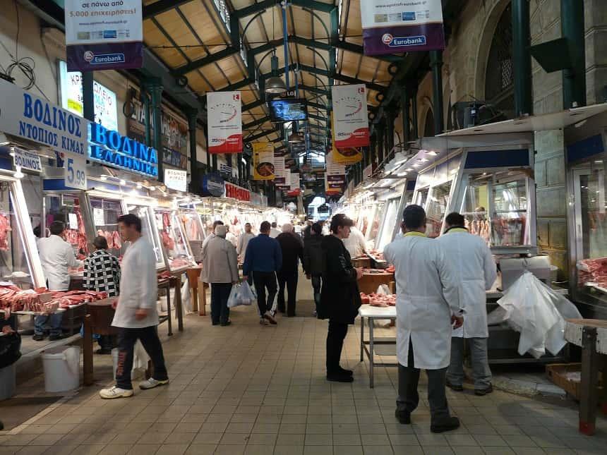 De vleesmarkt in Monastiraki