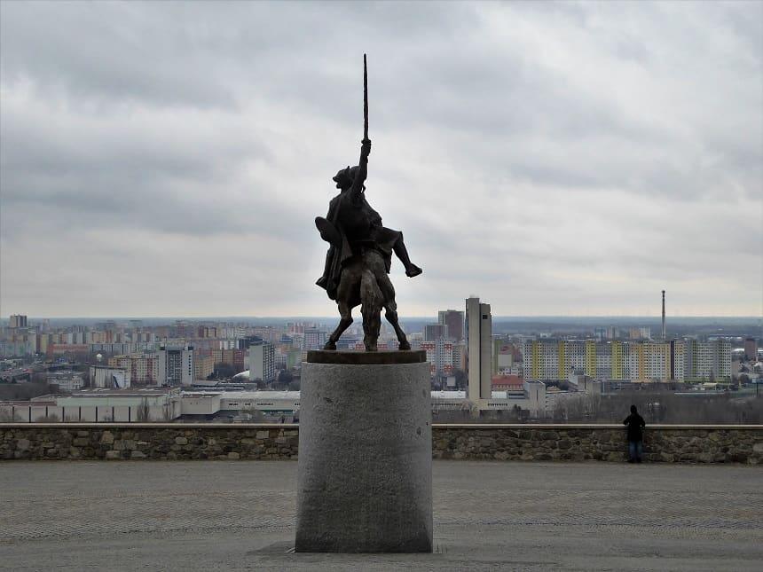 Uitzicht over de omgeving vanaf Bratislavský Hrad