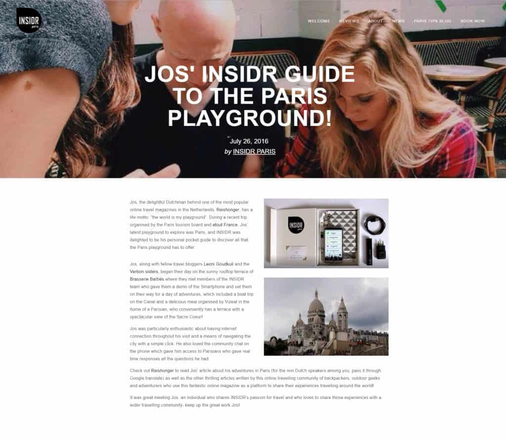 Jos over INSIDR Paris
