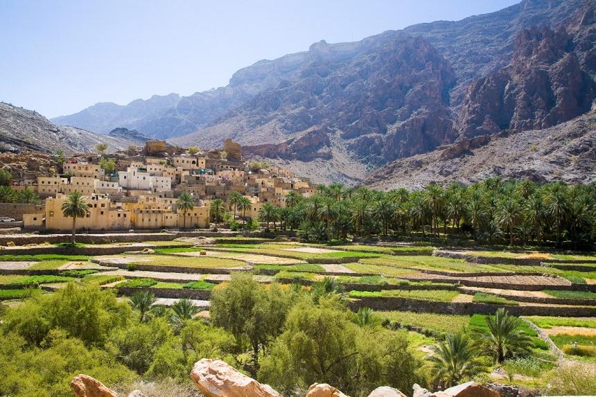 Oman landschap