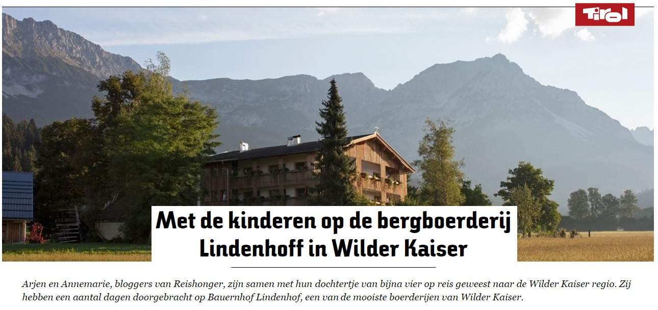 Reishonger genoemd in de nieuwsbrief van toerismebureau Tirol