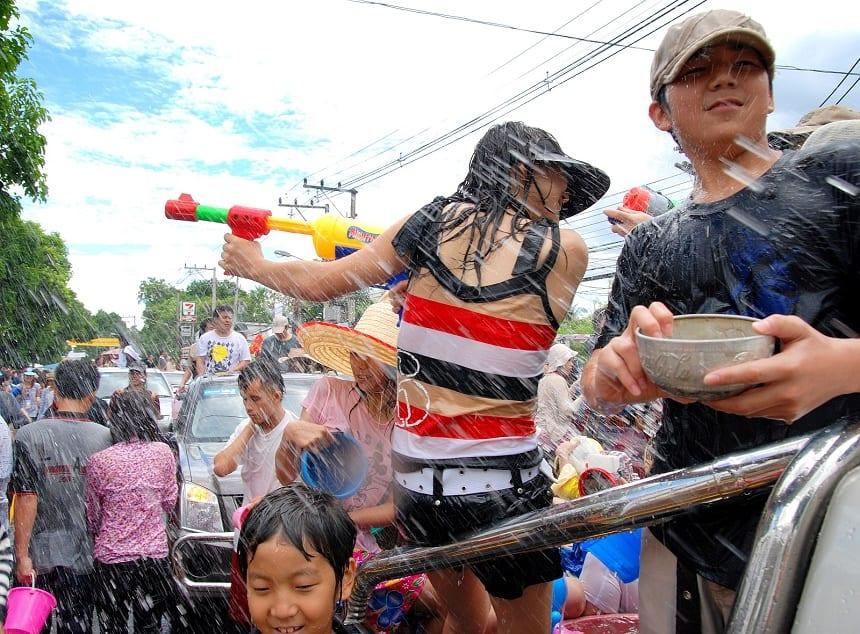 Songkran feest in Thailand