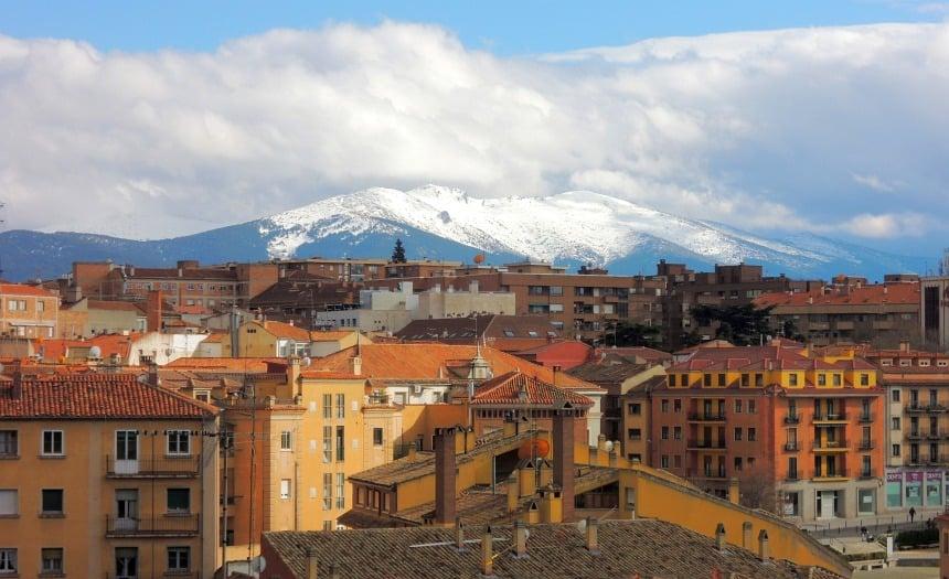 Castilla y Leon ligt noordwest van Madrid. Een hoogvlakte, achter de bergen.