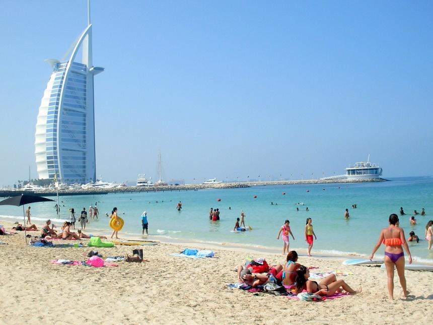 Stranden in Dubai