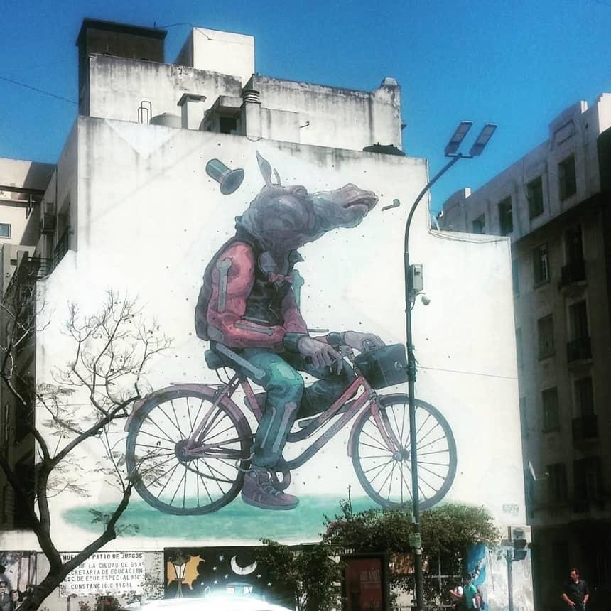 Op eigen houtje fietsen door Buenos Aires