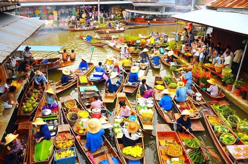 floating markets van Thailand