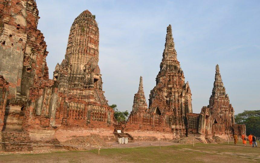 Ayutthaya de voormalige hoofdstad van Thailand