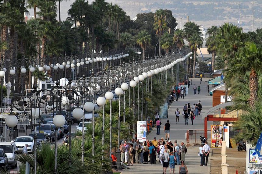 Palmenboulevard van Larnaka