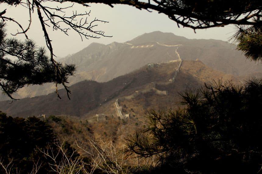 Chinese Muur bij Mutianyu
