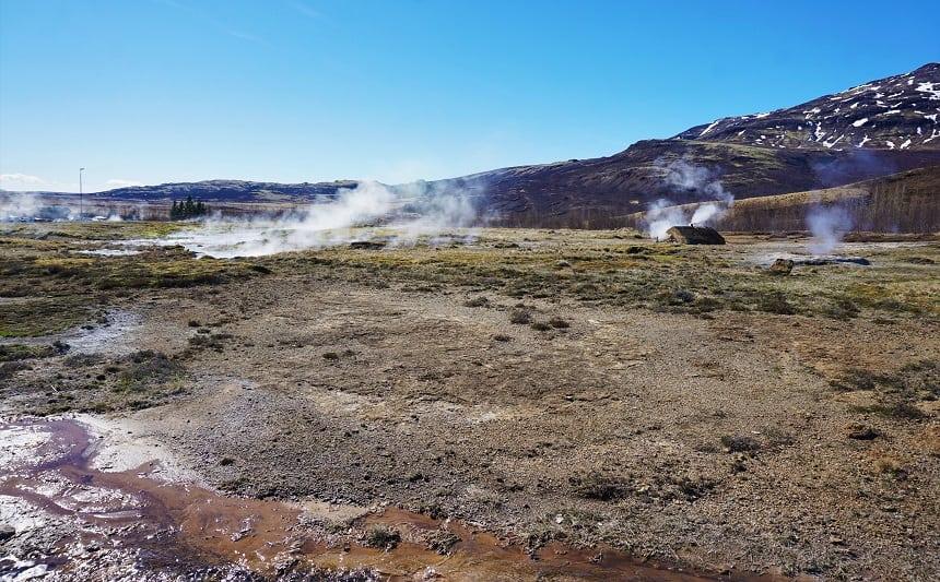 Geysir, het warmtebronnengebied.