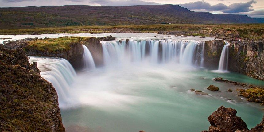 Goðafoss watervallen in IJsland
