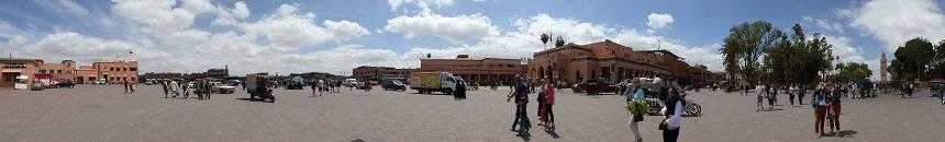 Jemaa el Fna, het centrale plein van Marrakesh