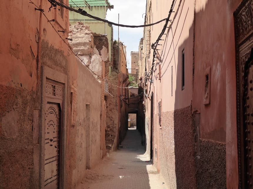 De steegjes van Marrakesh