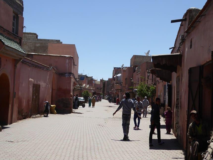 Aan de randen van de medina kom je in het echte leven van de inwoners