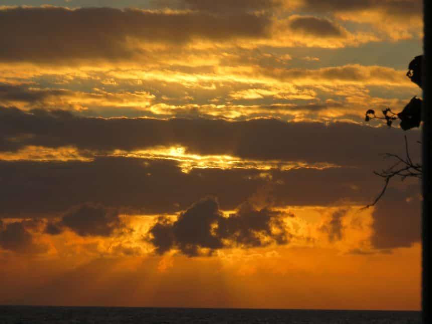 zonsondergang Hatta Island