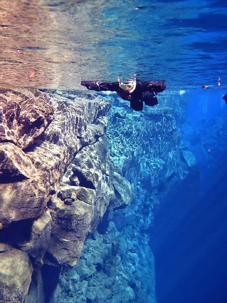 Onder water heb je zicht verder dan 100 meter