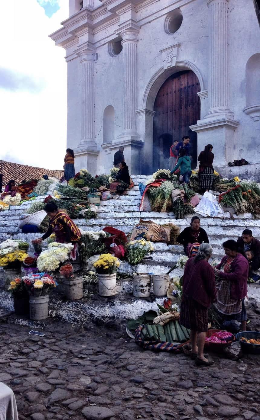 trappen Sint Thomaskerk Chichicastenango