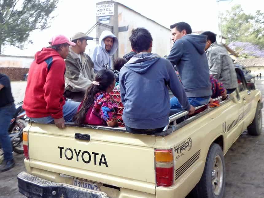 vervoer chichicastenango
