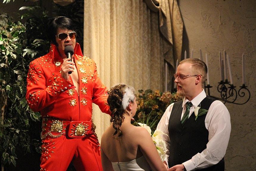 Elvis trouwen Las Vegas