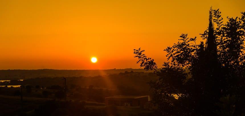 Alentejo zonsondergang