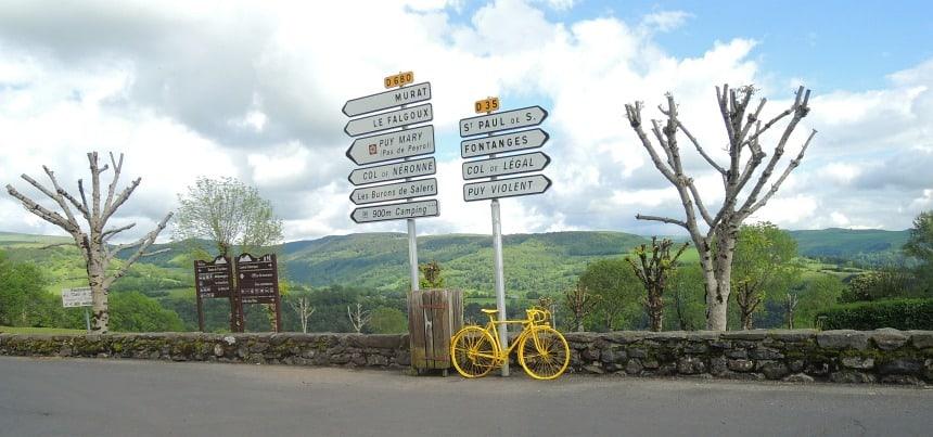 De luchtband van Michelin was de start van het toerisme. Maar de Auvergne bleef heerlijk rustig.