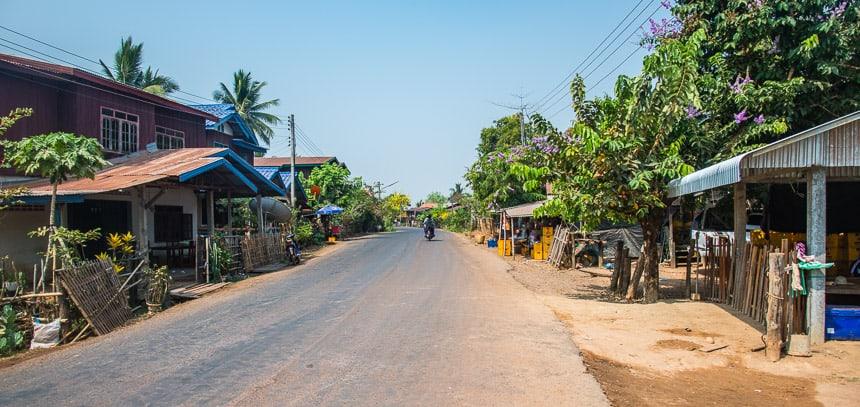 Champasak straatbeeld