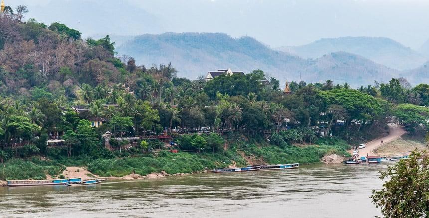 Luang Prabang vanaf de overzijde
