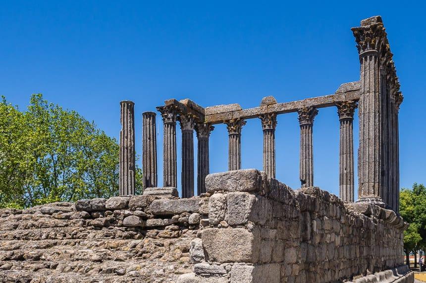 Romeinse tempelruine in Evora