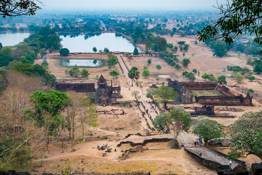Wat Phou van bovenaf