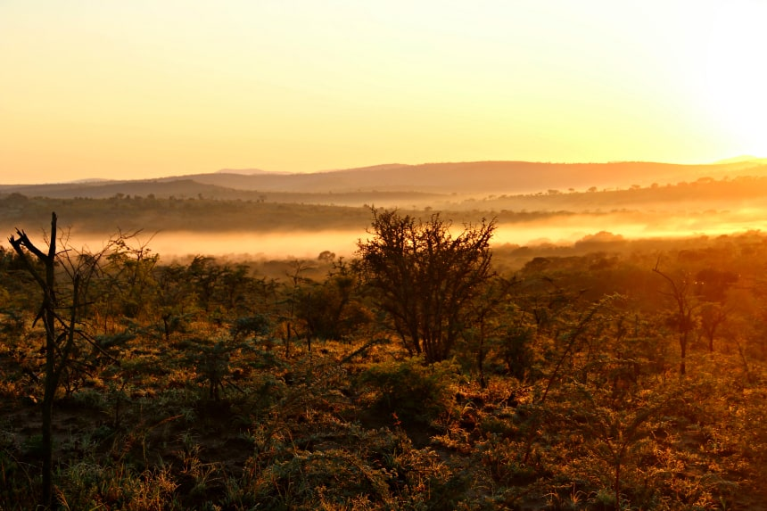 Safari Zuid-Afrika: spectaculaire zonsopgang in Hluhluwe-iMfolozi