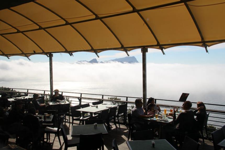 Het restaurant in het Cape of Good Hope Nature Reserve