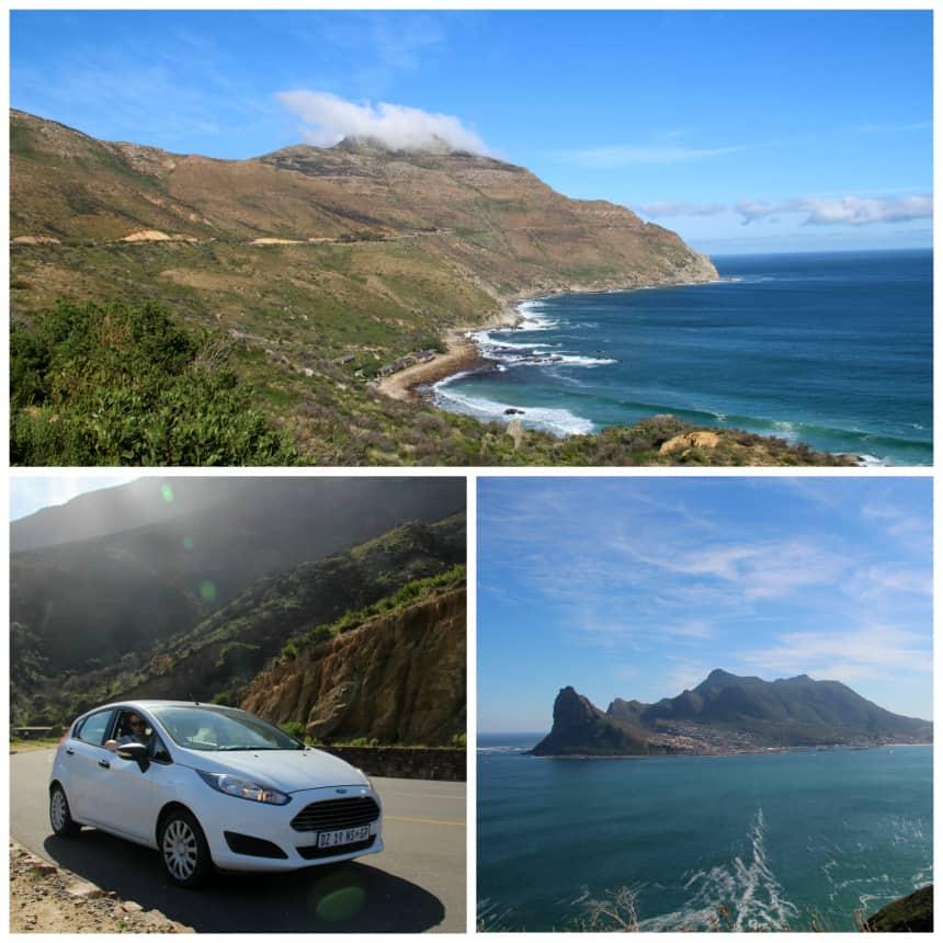 De panoramaweg Chapman's Peak Drive op het Kaaps Schiereiland
