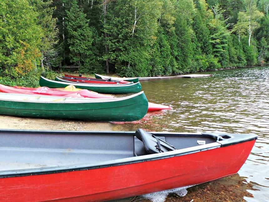 Kajakken op het fraaie Lake Sacacomie