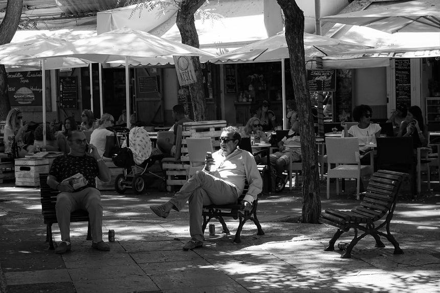 Een zaterdagmiddag op Plaza del Parque.