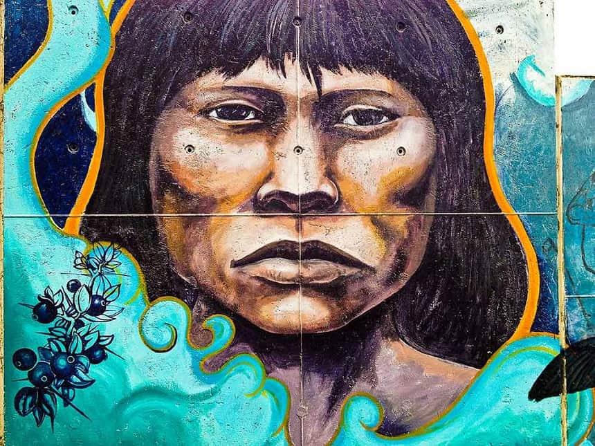 yamana muurschildering