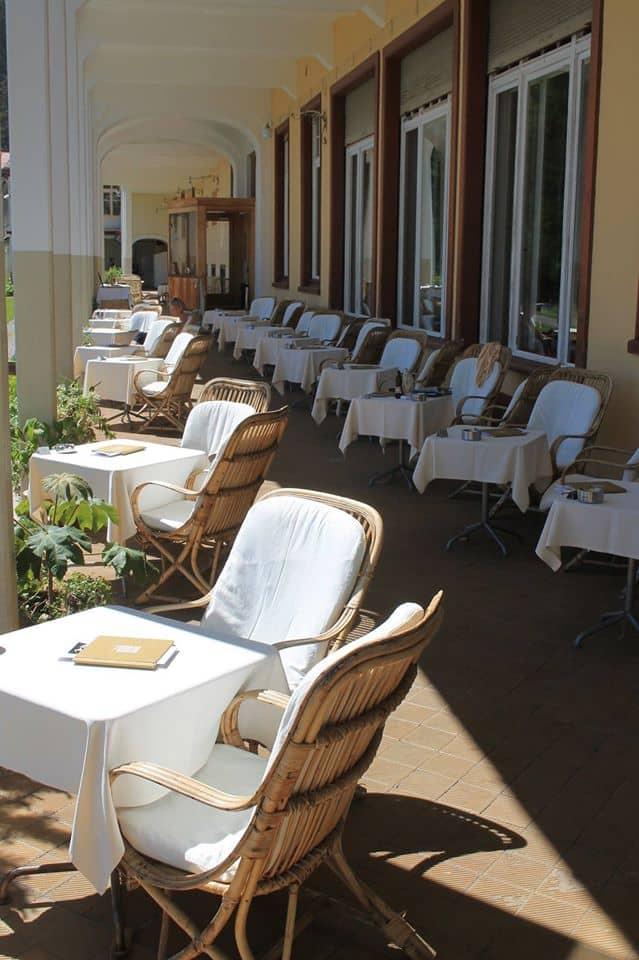 Het fijne terras bij het Schatzalp hotel